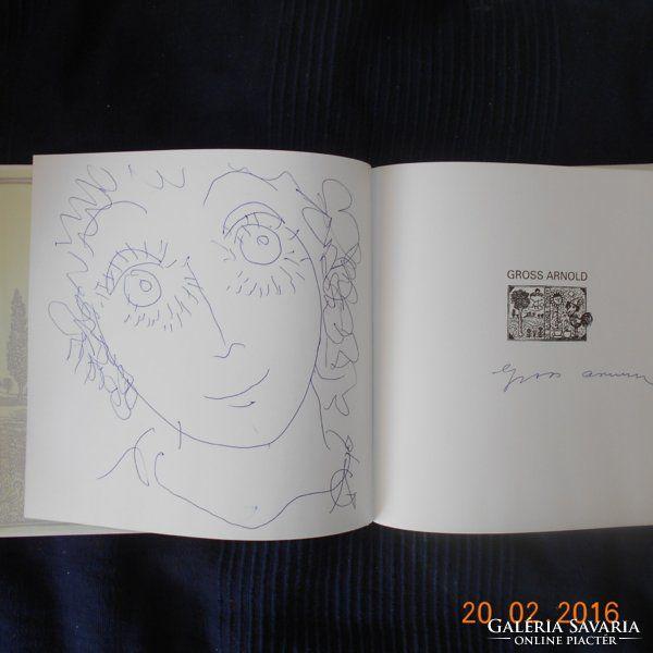 Gross Arnold Album,rajzolt aláírt