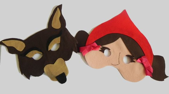 Molde de máscara do lobo mau - Imagui