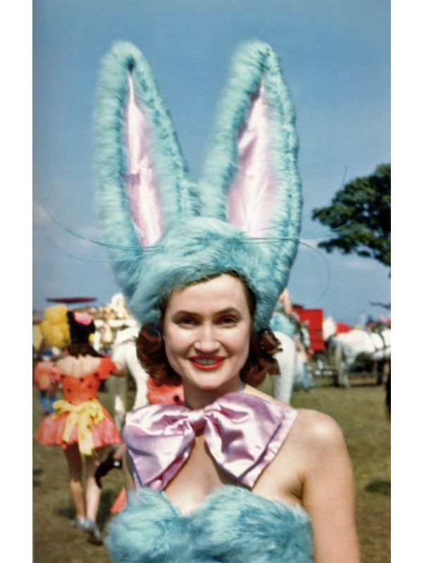 retro bunny: Easter, Vintage, Showgirls, Costume, Bailey Showgirl, Bunnies, Photo
