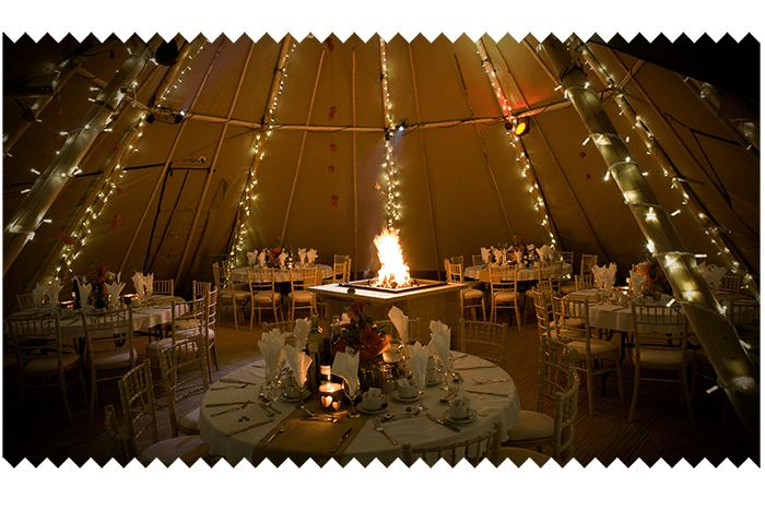 Hire a Tipi for your wedding reception in the UK