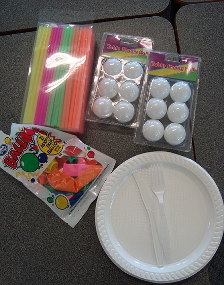 End of Year party games Balloons - don't touch the ground w/ ur elbows Table tennis Chocolate eating game