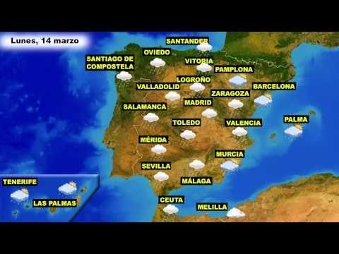 El tiempo en España: Previsión para hoy lunes 14 y mañana martes 15 de marzo - YouTube