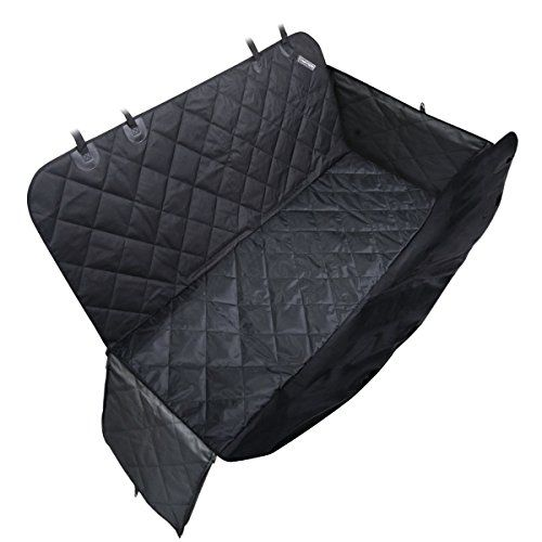 Travel Inspira Dog Seat Covers With Extra Side Flaps Bonus Car Safety Belt Pet Seat Covers For Suvs - Black Pet Seat Cover For Cars WaterProof & Hammock Convertible