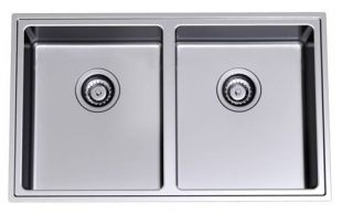 - Kitchen Sinks & Appliances - Clark Pete Evans Undermount Double Bowl Sink - burdens online