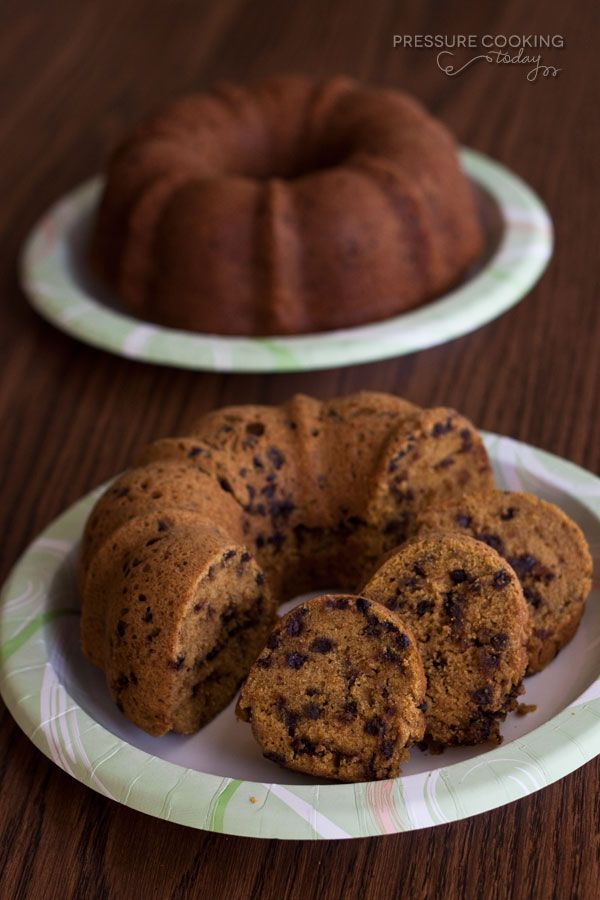 Pressure Cooker Pumpkin Chocolate Chip Bundt Cake