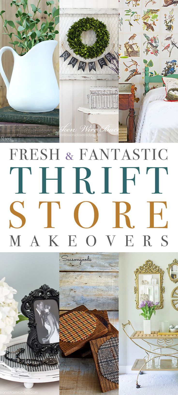 10 Fresh and Fantastic Thrift Store Makeovers