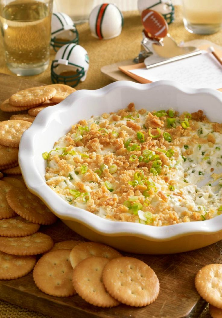 Kickoff Popper Dip – Topped with a sprinkling of buttery cracker crumbs, this creamy, cheesy appetizer recipe packs all the flavor of a jalapeño popper in every scoop.