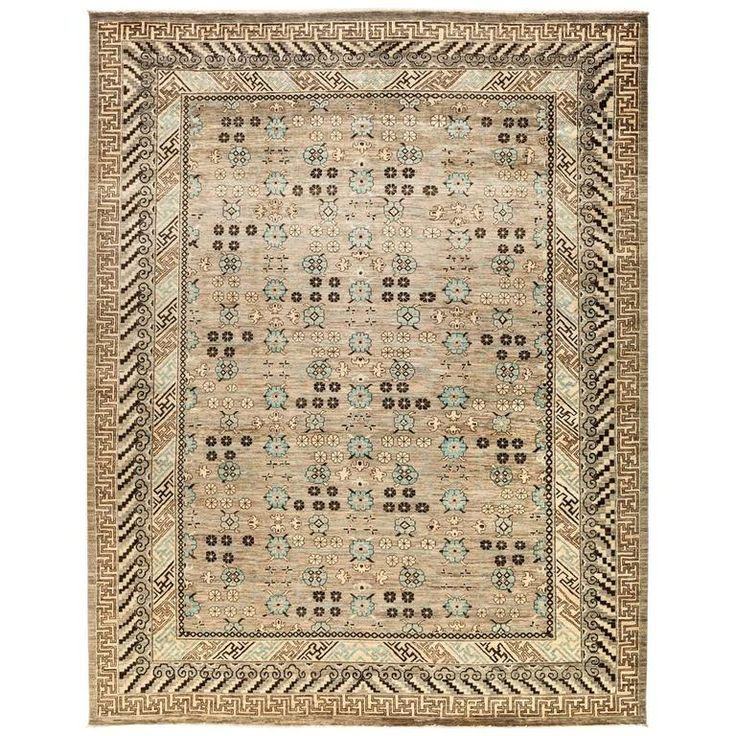 Beige Eclectic Area Rug, Solo Rugs | From a unique collection of antique and modern persian rugs at https://www.1stdibs.com/furniture/rugs-carpets/persian-rugs/
