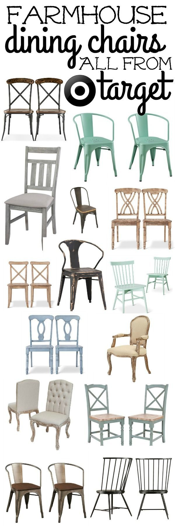 awesome Salle à manger - The best farmhouse dining room chairs. Great chairs that will add that rustic fa...