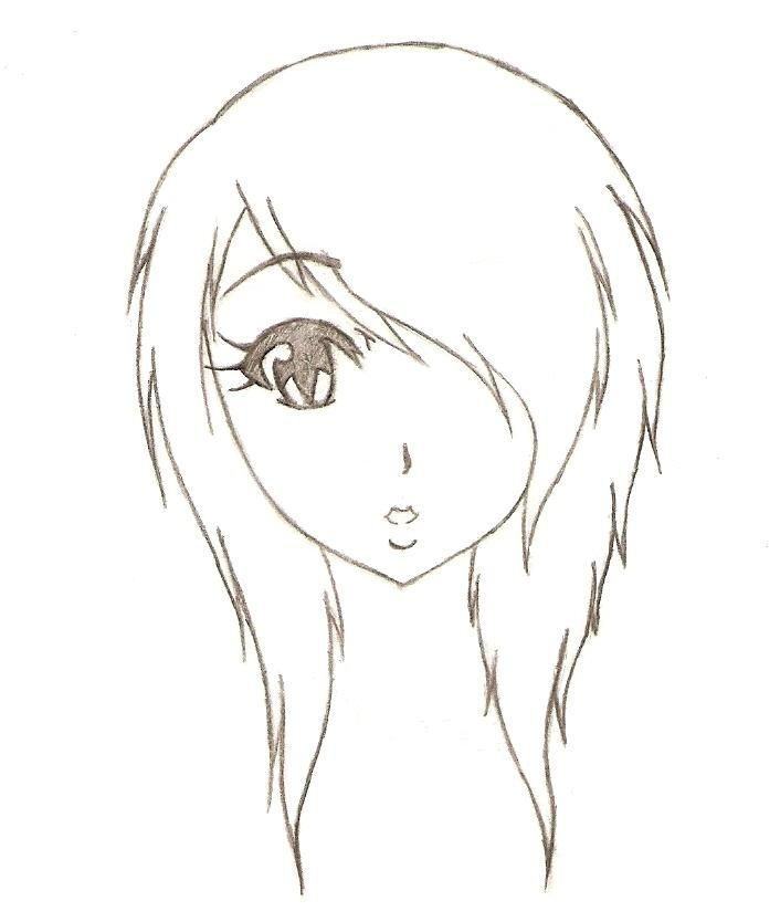 Anime emo girl easy emo anime drawings pictures anime for Cool easy