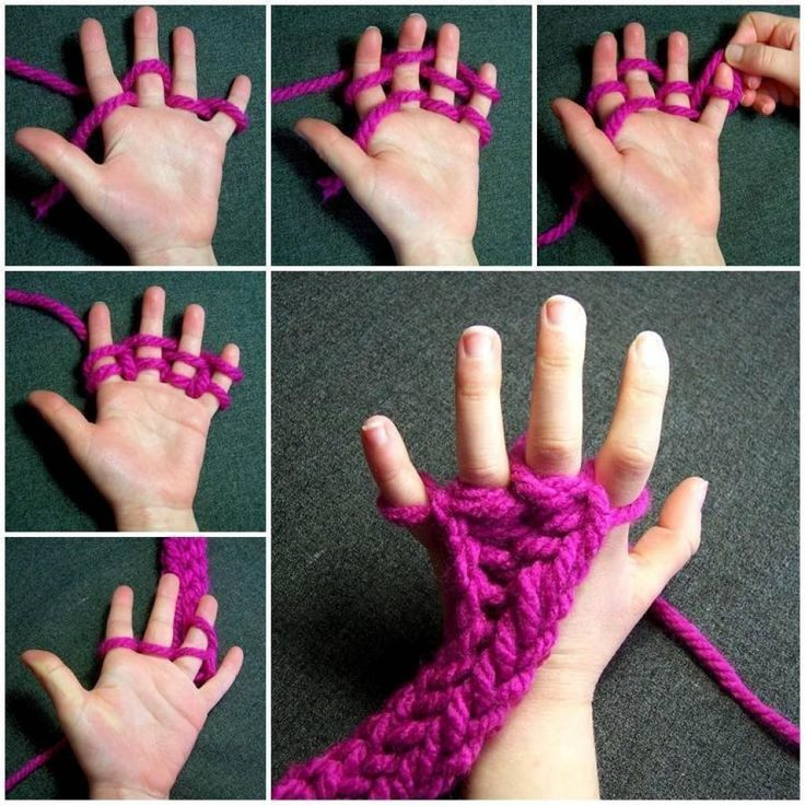 Apprenez aux enfants à tricoter avec les doigts! Plus une technique pour faire une écharpe! - Trucs et Bricolages