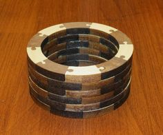 Segmented turning fe  Segmented turning features a turning blank made up of small stacked pieces of wood of various species for a unique appearance.