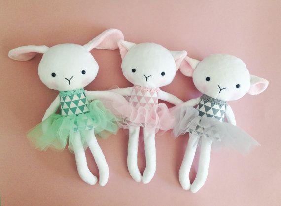 Cat rag doll Plush cat Handmade cat doll por CreepyandCute