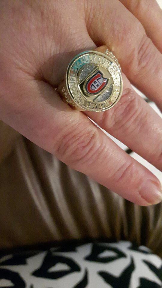 Montreal Canadiens Ring.  A Wonderful man went through many cases of beer to get this for me :)