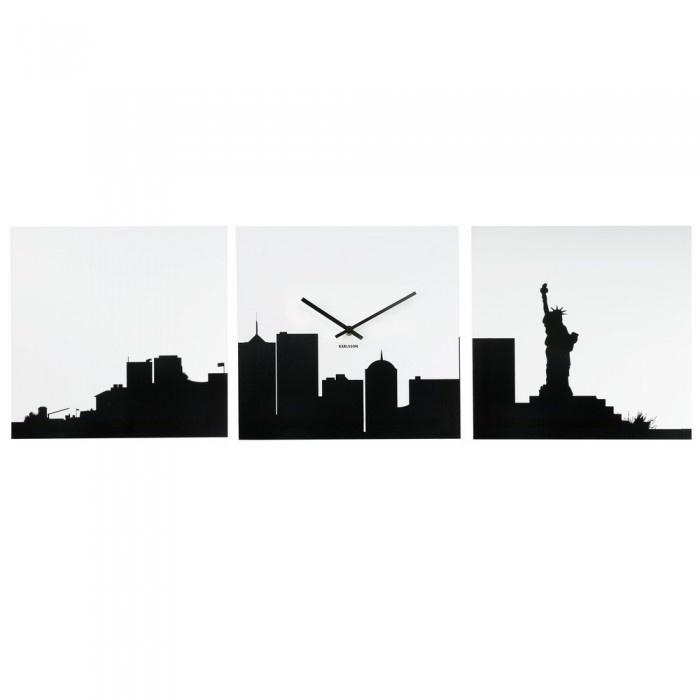 HORLOGE DESIGN NEW YORK CITY IN BLACK  Une horloge déco qui joue avec les ombres !  Voir le descriptif détaillé  Prix client ATYLIA  49,90€ TTC