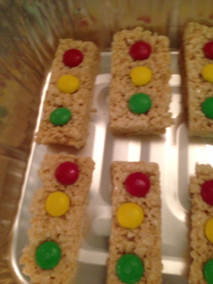 Rice Krispie treats stoplight #cars