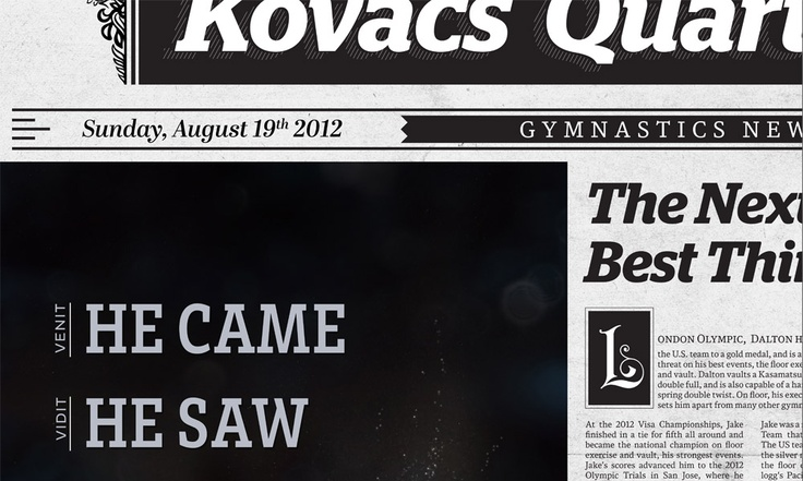 He Came, He Saw, He Conquered :: For all the gymnastics highlights with your morning eggs and OJ.
