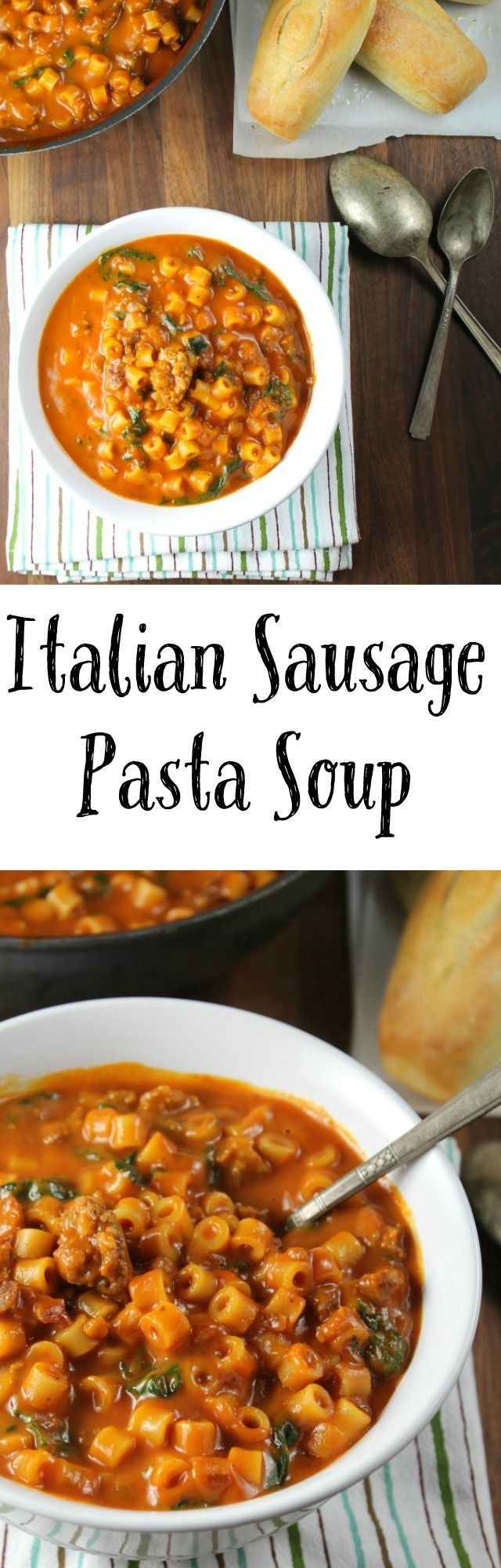 Italian Sausage Pasta Soup Recipe