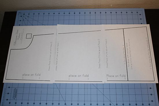 Actual printable pattern for pillowcase dress w/ tutorial in pics