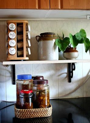 Rang-Decor {Interior Ideas predominantly Indian}: My Kitchen Shelf...