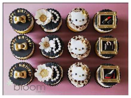 Sophicated Hello Kitty designer cupcakes