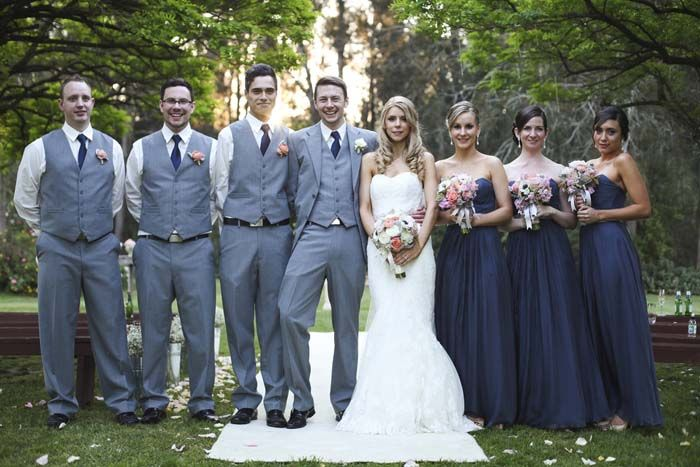 Love the Navy bridesmaids dresses and the outdoor wedding. Nature is a beautiful backdrop. Romance at Roberts