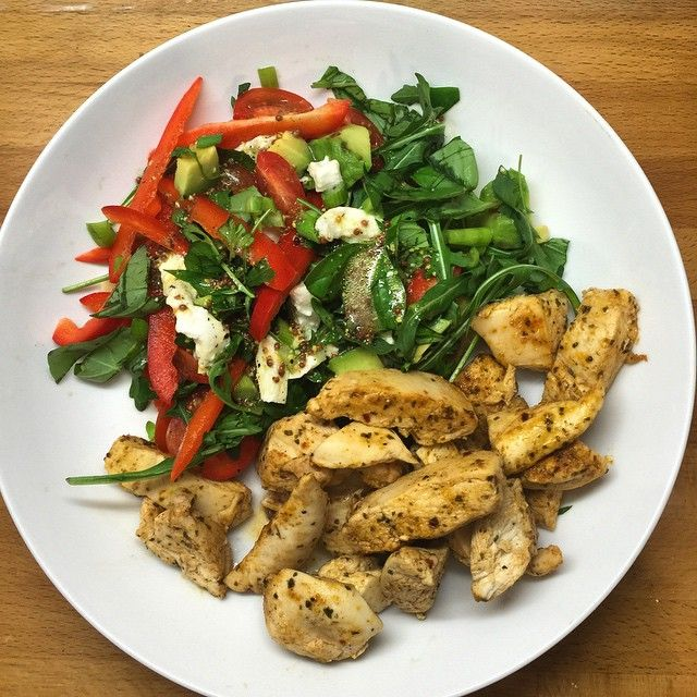 My final meal of the day is full of healthy fats and protein. The chicken…