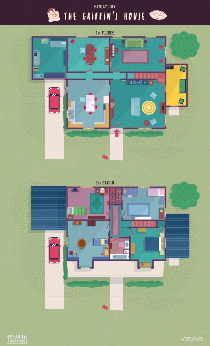 Tv Family Floor Plans Sims House Plans House Floor Plans House Blueprints