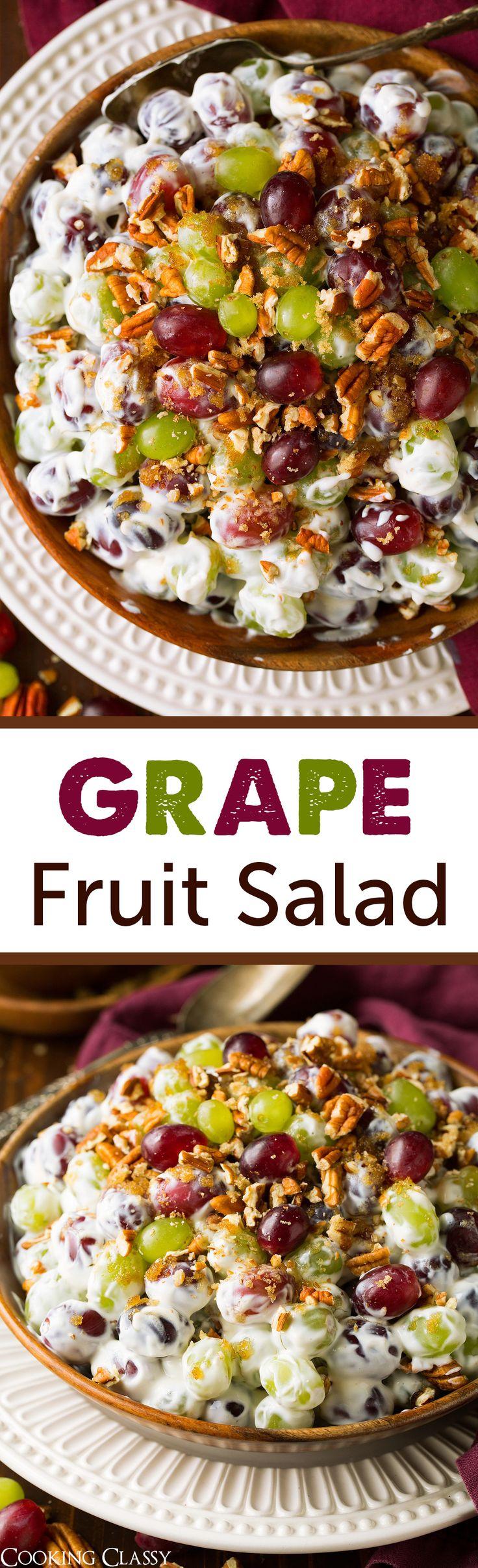 Creamy Grape Fruit Salad - Cooking Classy