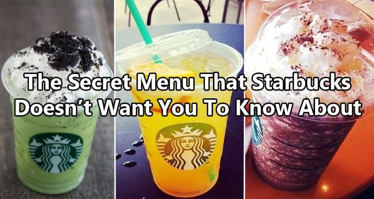 19 Secret Starbucks Orders You Never Knew Existed http://www.awesomeinventions.com/starbucks-secret-orders-menu/