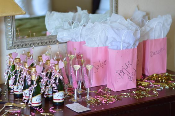 Dressing up empty space in the room as a pregaming bar/favors table could be nice!