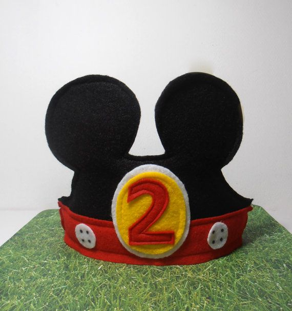 Mickey Mouse  Minnie Mouse  Birthday Hats  by YourBabyDays on Etsy, $20.00