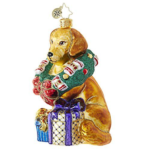 Christopher Radko This Retriever Gets It! Animal Christmas Ornament