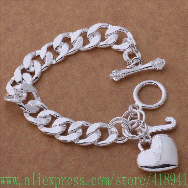 US $14,66 -- 925 чистое серебро браслет, 925 чистое серебро ювелирные изделия нежный к купить на AliExpress