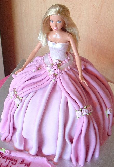 Barbie Cake.  Love this. Brings back wonderful birthday memories!  Thank you Elaine for baking me these for years<3