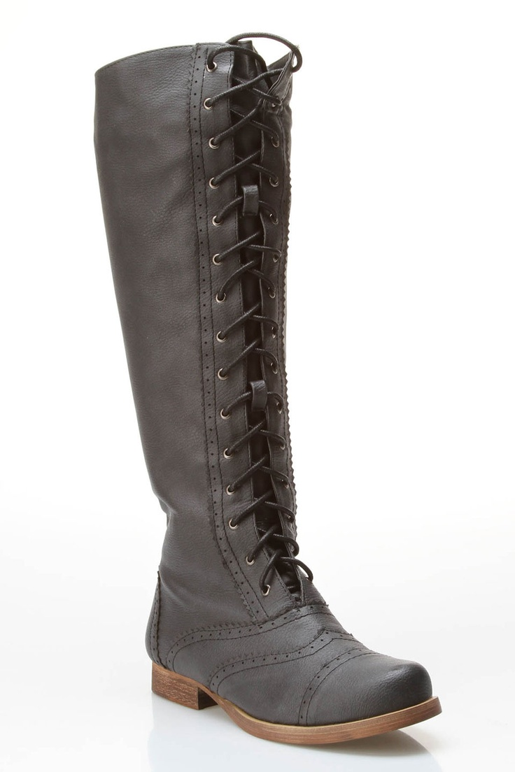 Lace Up Tall Boots / GC