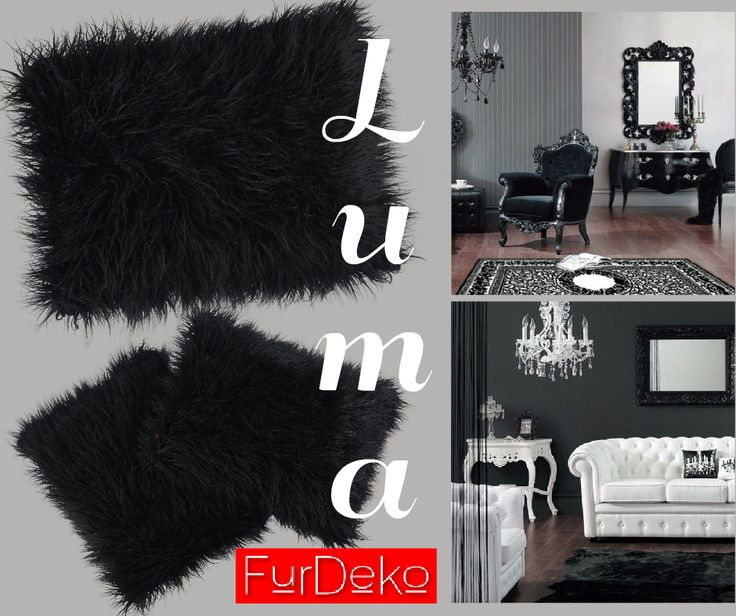 LUMA  w kolorze czarnym to elegancki dodatek do wnętrz inspirowanych stylem barokowym  będzie idealnie komponować się zarówno z czarnym, jak i białym obiciem mebli :) www.FurDeko.pl