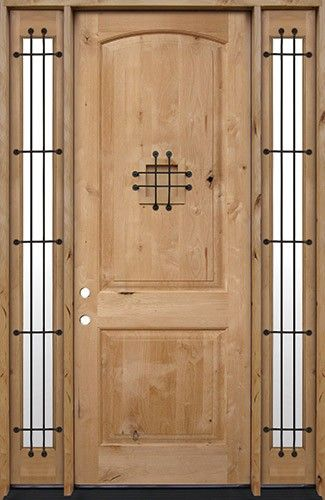 8 0 Quot Tall Rustic Knotty Alder Prehung Wood Door Unitwith
