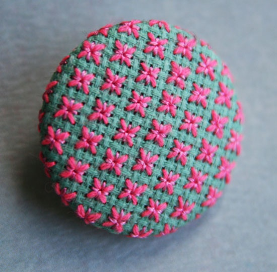 star stitch embroidry button (nice blog)