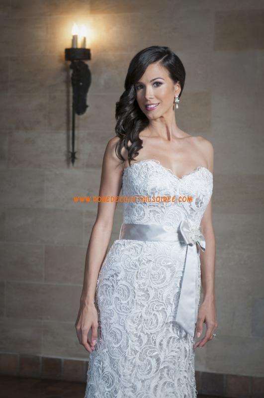 Boutique robe de mariée longue blanche A-line 2013 dentelle