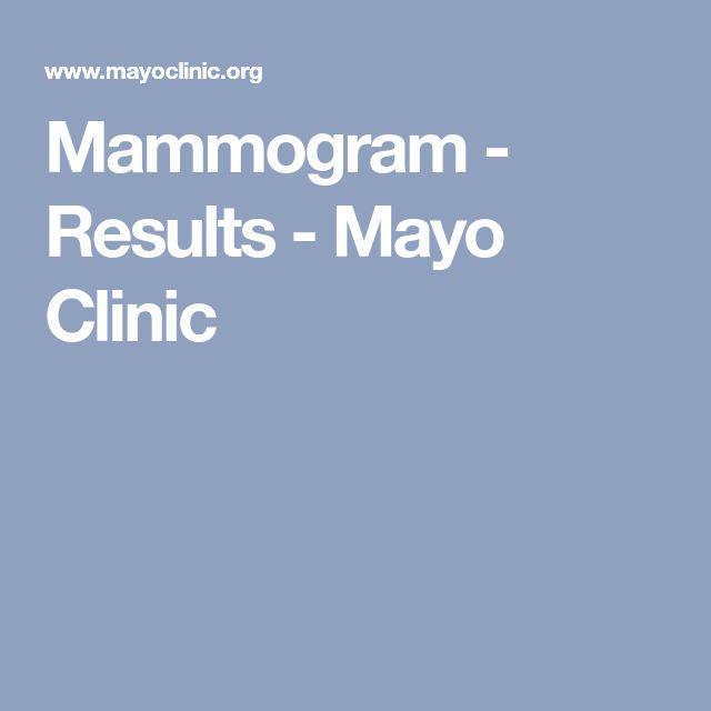 Mammogram - Results - Mayo Clinic