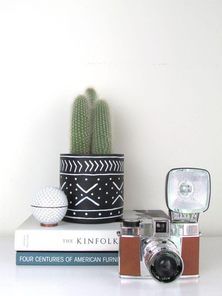 DIY Mudcloth Planters   francois et moi #cactus