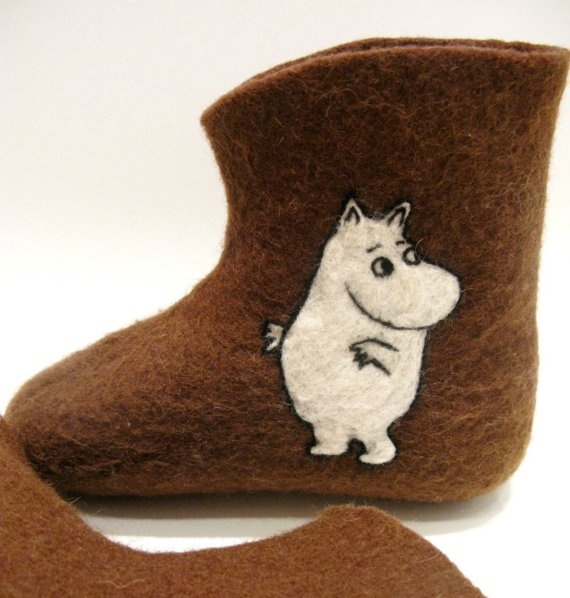 Moomin slippers. Quite amusing.