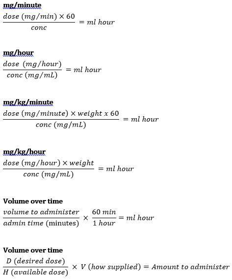 Formulae for dosage calculations | allnurses