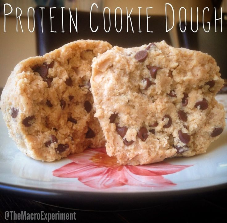 Protein Cookie Dough -- BEST RECIPE EVER 12F/38C/33P … why drink a protein shake when you can eat cookie dough?! #IIFYM #FlexibleDieting