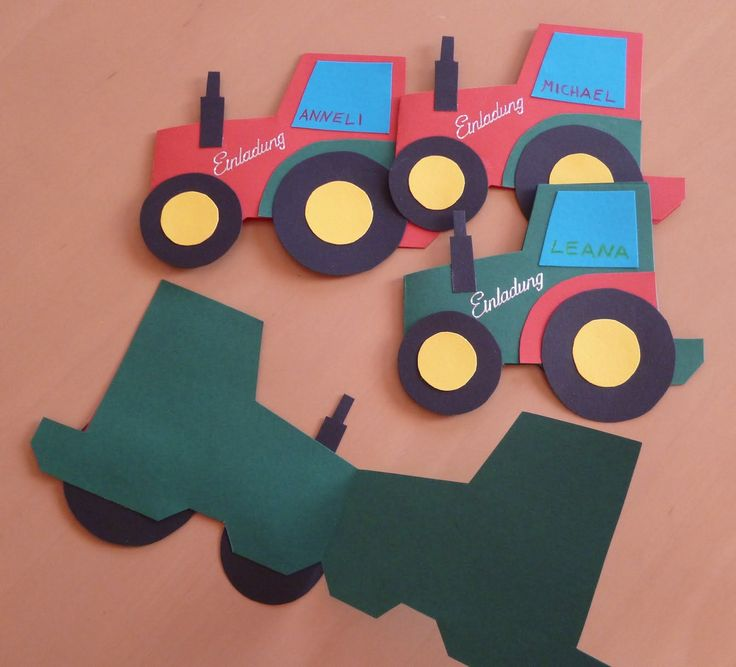 einladungskarten traktor kindergeburtstag