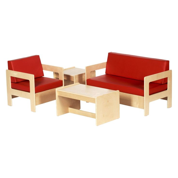 ECR4KIDS Red Living Room Set - 4 Piece | from hayneedle.com