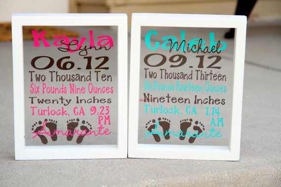 Baby Stats  Subway Art in a Floating Frame  Boy by MileHighGifts, $32.00