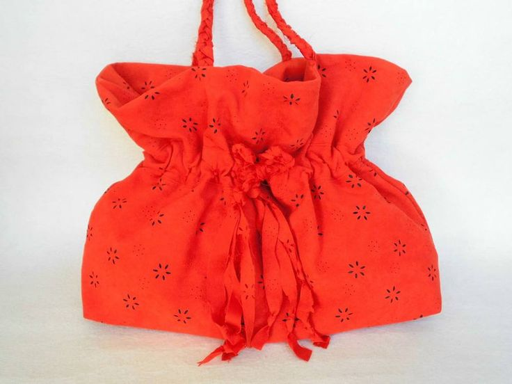 Slouchy Bags – UPCYCLING ///  RED SHOULDER BAG / RED BEACH BAG – a unique product by cosita-cosita on DaWanda