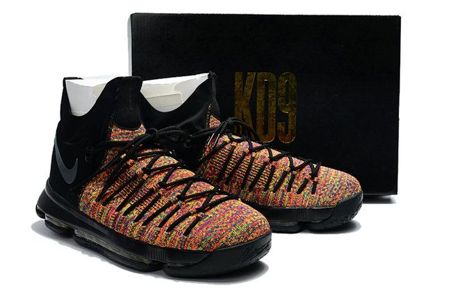 online retailer 2c6b9 d5b30 August 2018 KD 9 Elite Multi Color Black Rainbow